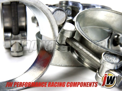 JW Stainless Steel Heavy Duty Extreme Hose Clamp 2 inch, 2.5 inch and 3 inch, Zinc Plated, High Quality, Solid Construction Hose Clamps, Performance automotive Marine  Silicon, turbo, intercooler & exhaust hose connectors Agricultural, commercial and heavy industrial vehicles & equipment High vibration & stubborn leak applications Engineering, Truck Hose Clamps
